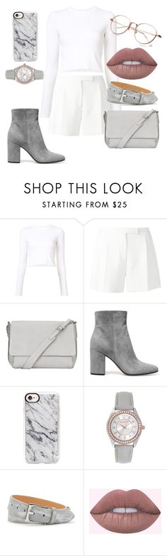 """Rose Gold & Gray Vibes"" by josie-land ❤ liked on Polyvore featuring Proenza Schouler, Elie Saab, Kin by John Lewis, Gianvito Rossi, Casetify, Geneva, Donald J Pliner and rosegold"