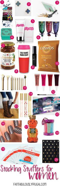 Stocking Stuffers for Women via FantabulouslyFrugal.com