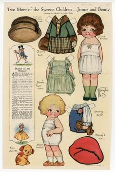 76.2937: Two More of the Sweetie Children-Jennie and Benny | paper doll | Paper Dolls | Dolls | National Museum of Play Online Collections | The Strong