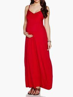 9fde689db13f6 Maternity Maxi Dress With Spaghetti Straps :: #MaternityDress by # ThymeMaternity #MaternityFashion #