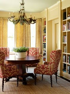 multifunctional study, library, dining room