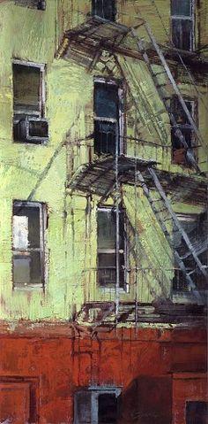 Jill Soukup - Eisenhauer Gallery of Edgartown, MA Contemporary Landscape, Urban Landscape, Landscape Art, Landscape Paintings, Landscapes, Urbane Kunst, Urban Painting, Urban Setting, Urban Architecture