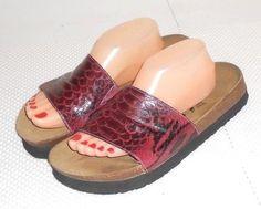 Betula by Birkenstock Reptile Print Slide Sandal Euro 42 Mens US 9  Womens 11 #BetulabyBirkenstock #Slides