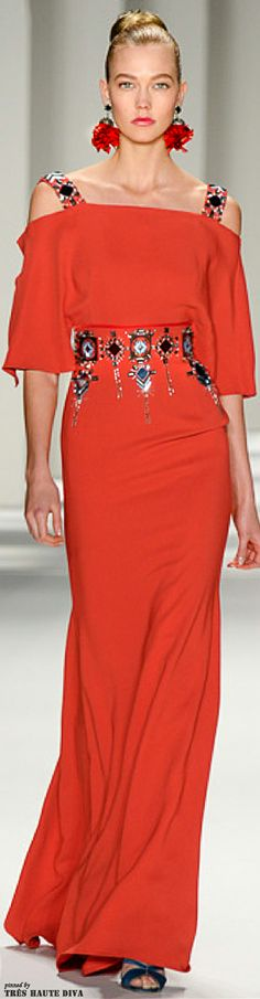 Carolina Herrera Fall 2014 RTW #NYFW http://www.vogue.com/fashion-week/