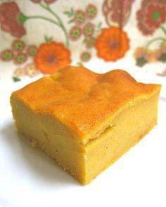 """""""flan"""" citrouille (ça me fait penser au gâteau-patate de la Réunion...)"""