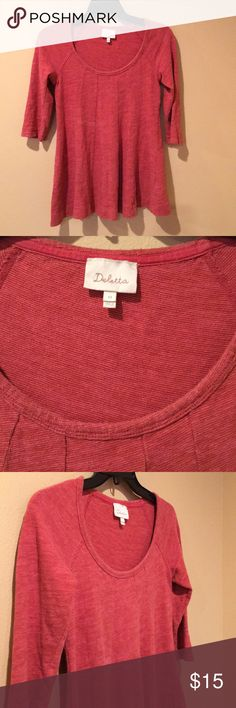 Anthropologie Deletta top Anthropologie Deletta top.  100% cotton. 3/4 sleeves.  Minor piling. Top is a tad lighter in person. Pre owned.  No rips, tears or stains.  No trades. Price is firm. Anthropologie Tops