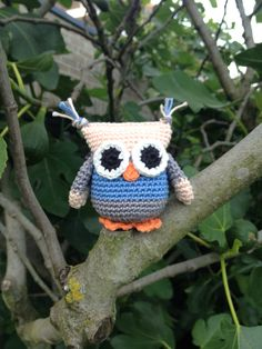 Ollie owl, based on a free pattern designed by Ala-Knit.