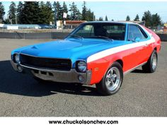 1969 AMC AMX 390ci 4spd One of my favorite muscle cars.