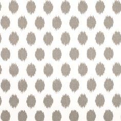 Storm Gray Jojo Ikat Dot Duck Cloth Fabric