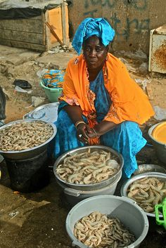 Fresh shrimps, Senegal by Ferdinand Reus, via Flickr