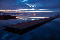 pontile. Lago di Varese....