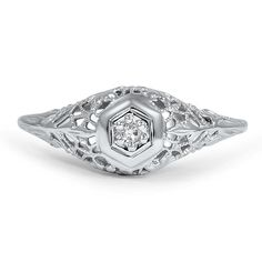 12K White Gold The Magdalen Ring from Brilliant Earth