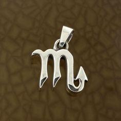 Scorpio-Zodiac-Symbol-Pendant-in-Solid-Sterling-Silver-Symbolic-Charm