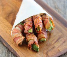 Bacon Wrapped Avocado Fries - Kirbie's Cravings