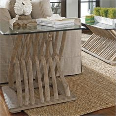 Stanley Furniture Coastal Living Resort Driftwood Flats End Table in Weathered Pier - Console And Sofa Tables, Furniture, Driftwood Table, Stanley Furniture Coastal Living, Coastal Living, Table, End Tables, Living Room Table, Wood Table