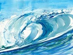 Carribean Blue Artwork: Beach Decor, Coastal Decor, Nautical Decor, Tropical Decor, Luxury Beach Cottage Decor