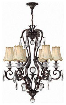 Hinkley Lighting 4406GR Marcellina Golden Bronze 6 Light Chandelier traditional chandeliers