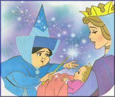 *MERYWEATHER, BABY PRINCESS AURORA & QUEEN LEAH ~ Sleeping Beauty, 1959