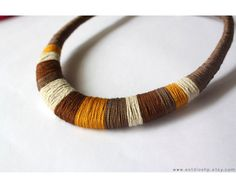 Brown necklace brown tones autumn necklaceafrican by Estudioshp