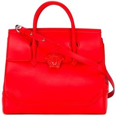 Versace Palazzo Empire tote ($2,864) ❤ liked on Polyvore featuring bags, handbags, tote bags, red, red tote handbag, handbags totes, versace, versace handbags and red purse