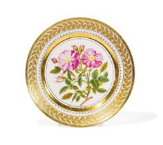 A Russian porcelain plate, Yusupov workshop, Arkhangelskoe, 1827 Estimate 8,000 — 12,000 USD    LOT SOLD. 21,250 USD