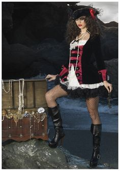 Charming Pirate Captain Costume