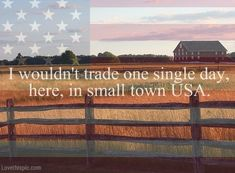I wouldn't trade quotes country america town