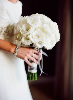 There is something special about an all #white #bridal #bouquet