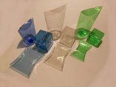Boxes from plastic bottles
