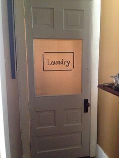 My laundry room door