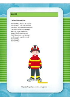 Versje: De brandweerman Family Guy, Baseball Cards, School, Crafts, Fictional Characters, Water, Superheroes, Gripe Water, Manualidades