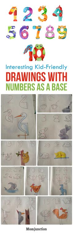 10 Interesting Kid-Friendly Drawings With Numbers As A Base