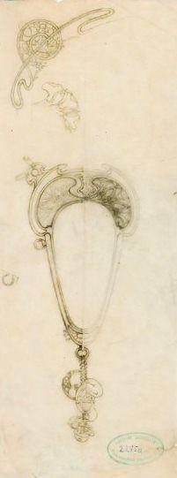 Jewellery designs by Alphonse Mucha, 1900. www.esbirky.cz, CC0