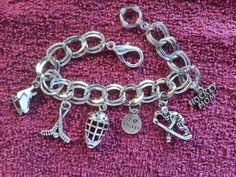 Hockey Mom charm bracelet