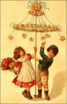 Happy May Day! My favorite Month! Victorian Card