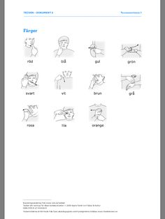 Kopieringsmaterial från www.nok.se/tecken Sign Language, Special Needs, Teaching, Education, Communication, Onderwijs, Learning, Sign Language Art, Tutorials