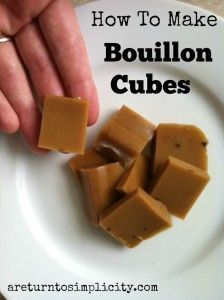 Recipe for easy and convenient bouillon cubes.