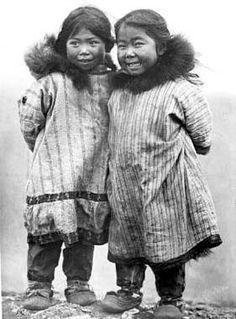 Inupiat girls near Nome, Alaska - 1908 — with Wayne Drake
