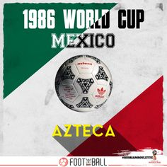 'Azteca', was the first synthetic ball to be used at a World Cup . . . #Football #Futbol #Soccer #SoccerLife #FootTheBall #FootballWorldCup #SoccerWorldCup #RussianRoulette #DidYouKnow #Mexico #Aztec #Sports #Adidas #AdidasOriginals #History #1980s
