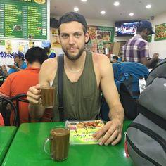 Patryk Strzeżek and coffee from Asia! #coffeetime #volleyball #coffee