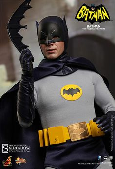 Today we want to show you the super realistic looking scale Batman and Robin collectible figures made by Hot Toys and based on Adam West and Burt Ward's appearance… Adam West Batman, Batman Robin, Batman 1966, Im Batman, Batman Art, Superman, Batman Batmobile, Batman Stuff, Batman Tv Show
