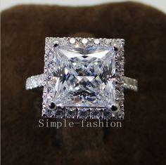 Fine Jewelry Certifié Gia Chic Jaune Coussin Fiançailles Diamant Bague Du Halo 3.75 Carat Discounts Price Fine Rings