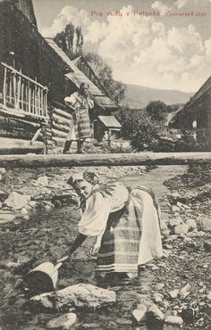 Pavol Socháň - Pre vodu v Polomke Folk Clothing, Heart Of Europe, Strange History, Old Building, Folk Costume, Eastern Europe, Czech Republic, Folklore, Old Photos