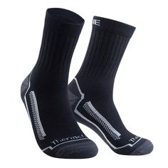 Tootsies - Merino Unisex Cycle Socks High warmth merino, hard wearing composition, and extra comfortable 57% merino, 23% thermolite, 18% elastane, 2% nylon Elastic non slip cuff to stop slippage Thickened wear resistant heal Closed toe Terry cloth cushioning Quick drying Odour resistant Breathable  ...keep the feet warm in winter Ski Socks, Hiking Socks, Moisture Wicking Socks, Mountain Bike Clothing, Merino Wool Socks, Sock Monster, Cycling Accessories, Cycling Gloves, How To Get Warm