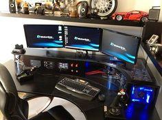 pc built into the desk