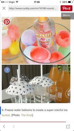 Ice cube balloons