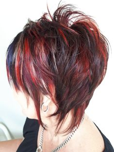 Great cut--love this pixie shag, the fringe is sweet. I would tighten it up a bit between the occipital and the fringe
