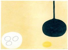 William Scott, Lemon Pan and Eggs, 1975, Crayon + pencil on paper, 57.1 x 76.8 cm / 22½ x 30¼ in, Private collection