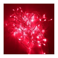 40 Red LED Indoor Fairy Lights Clear Cable