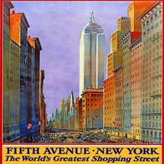 """New York Fifth Avenue shopping street skyscrapers pillow case cushion cover 18""""    eBay"""